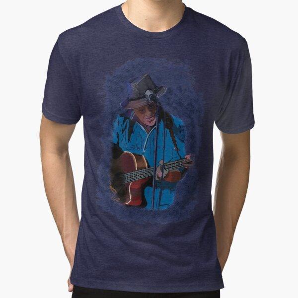 Guitarist playing the blues Tri-blend T-Shirt