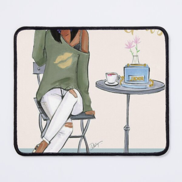Just A Girl With Goals Dark Skin Mouse Pad