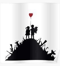 Banksy - 3 KIDS ON GUNS Poster