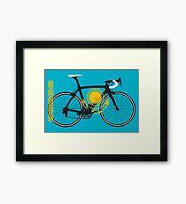Bike Flag Kazakhstan (Big - Highlight) Framed Print