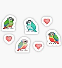 Pixel Parrots Sticker