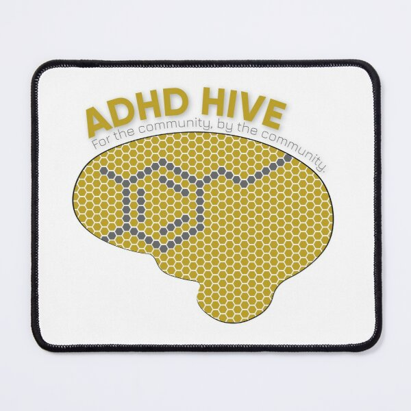ADHD Hive Logo (With words) Mouse Pad