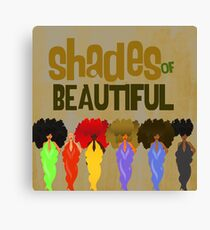 SHADES OF BEAUTIFUL Canvas Print