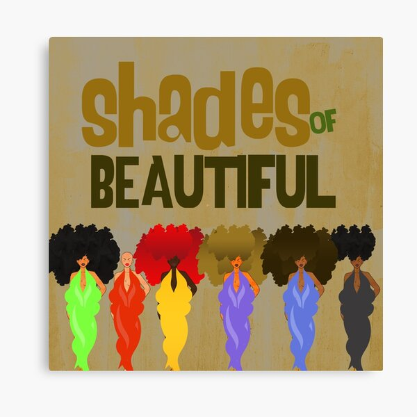 SHADES OF BEAUTIFUL Canvas Print