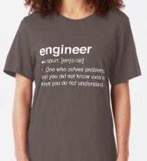 Lustige Ingenieurdefinition Slim Fit T-Shirt