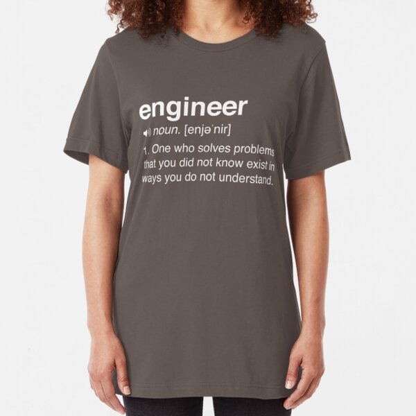 Funny Engineer Definition Slim Fit T-Shirt