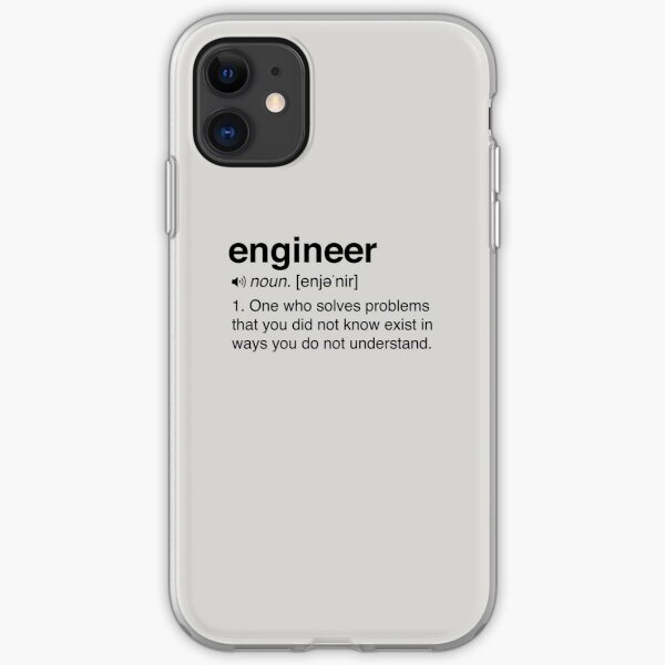Funny Engineer Definition iPhone Soft Case