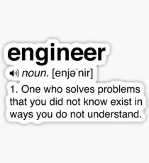 Funny Engineer Definition Sticker