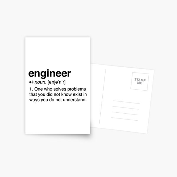 Funny Engineer Definition Postcard