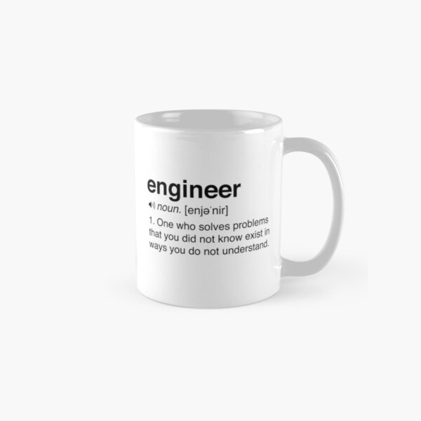 Funny Engineer Definition Classic Mug