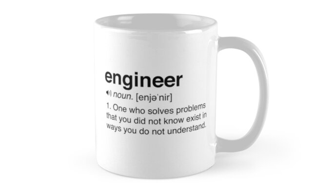funny engineer definition mugs by careers redbubble
