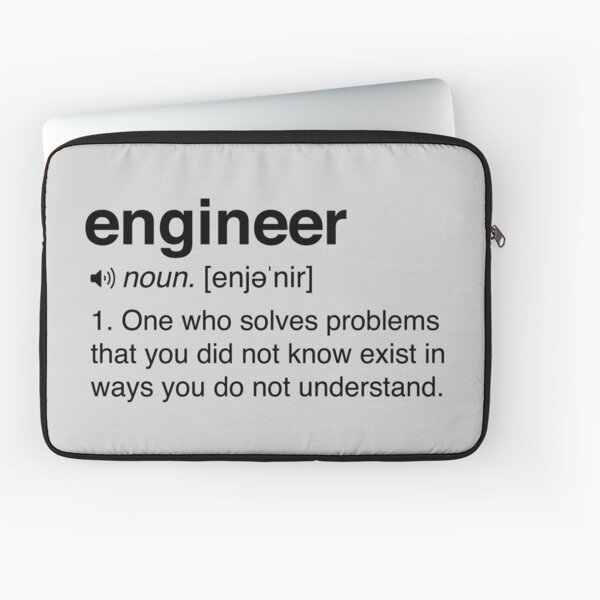 Funny Engineer Definition Laptop Sleeve