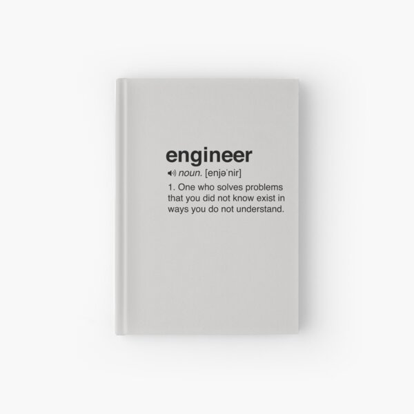Funny Engineer Definition Hardcover Journal
