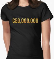 CEO Shirts Entrepreneur Business Women's Fitted T-Shirt