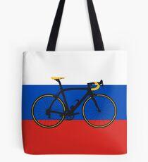 Bike Flag Russia (Big - Highlight) Tote Bag