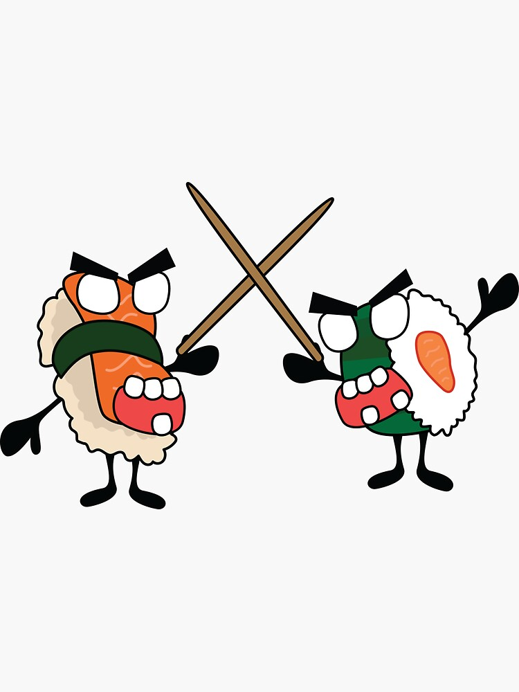 angry dueling zombie sushi by shortstack