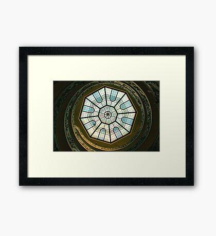 Vatican Museum Stairway, Looking UP Framed Print
