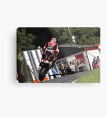 Josh Brookes jumps the mountain at Cadwell Park. UK Metal Print