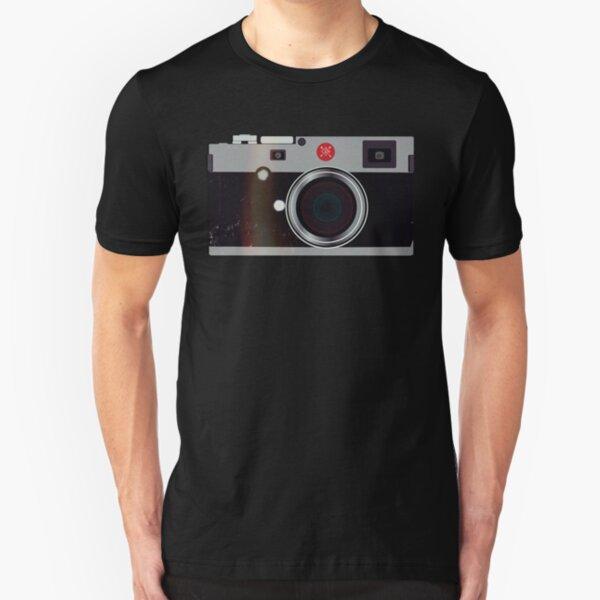 Leica Stil Kamera Slim Fit T-Shirt