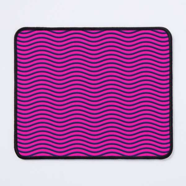 Hot Pink Blue Ripple  Mouse Pad