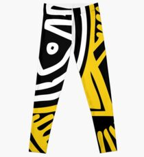 African Inspired Bold Graphic Pattern Leggings