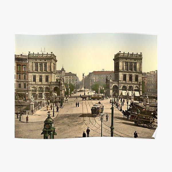 Hallesche Tor in Berlin Poster