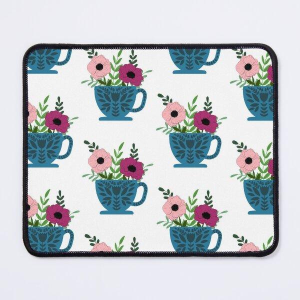 Cute Floral Teacup 2 Mouse Pad