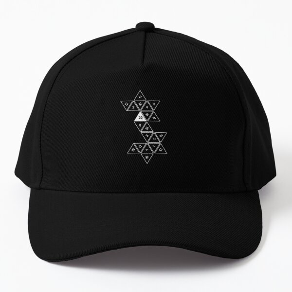 Red Unrolled D20 Baseball Cap