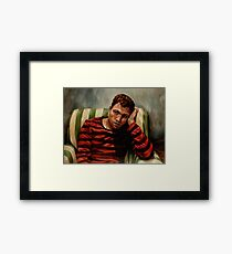 Evening Portrait of a Young Man Framed Print