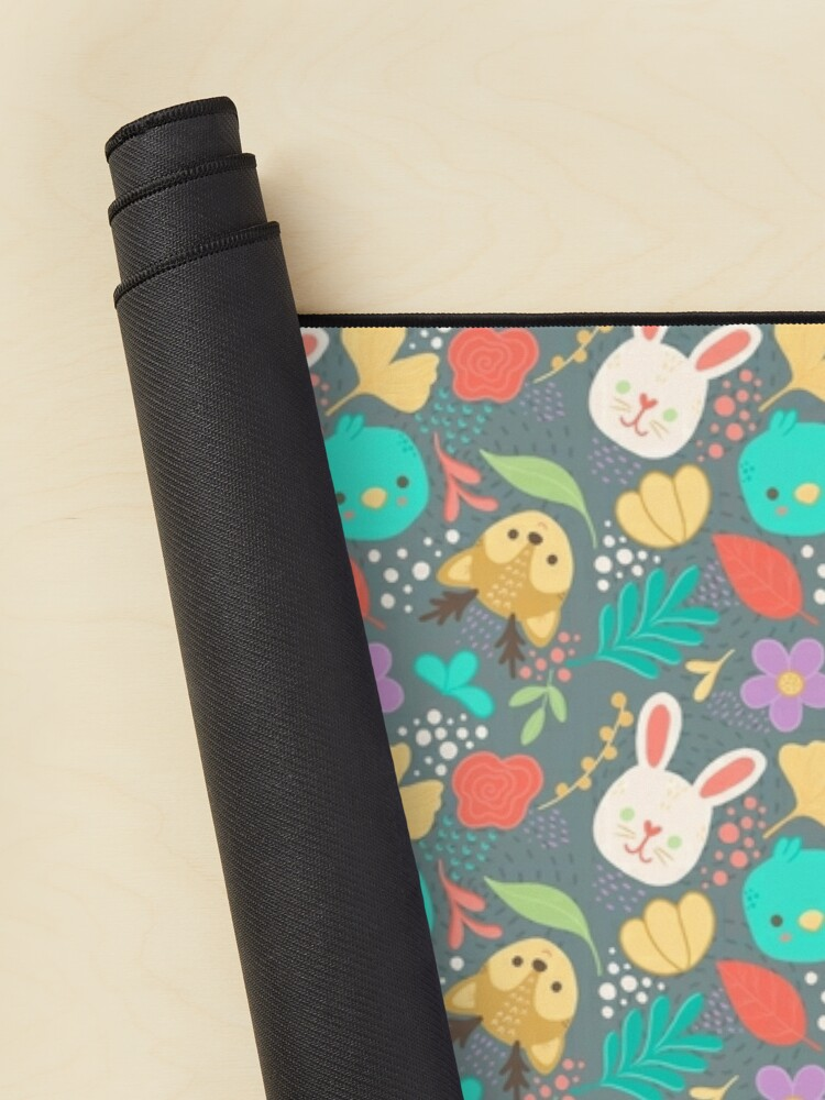 Alternate view of Cute Woodland Animals Spring Pattern Mouse Pad