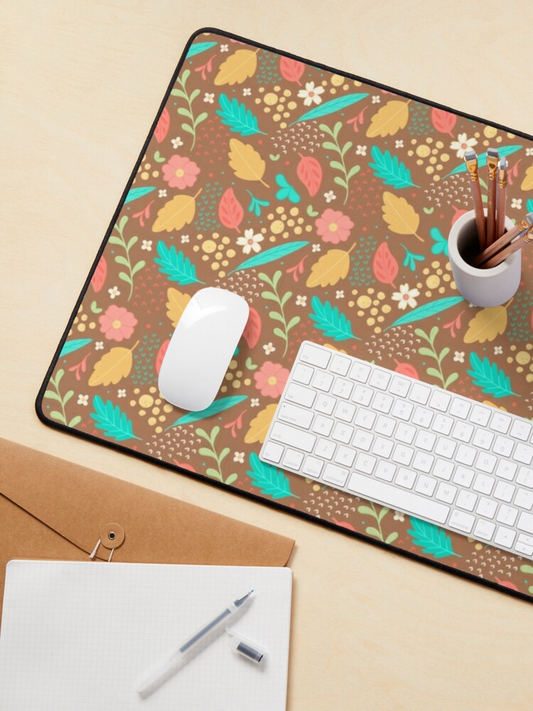 Alternate view of Sweet Flowers and Leaves Pattern Mouse Pad