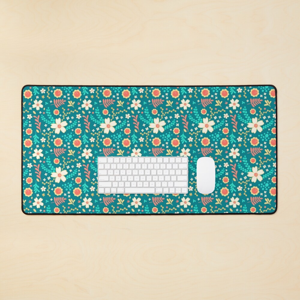 Sweet Floral Pattern Mouse Pad
