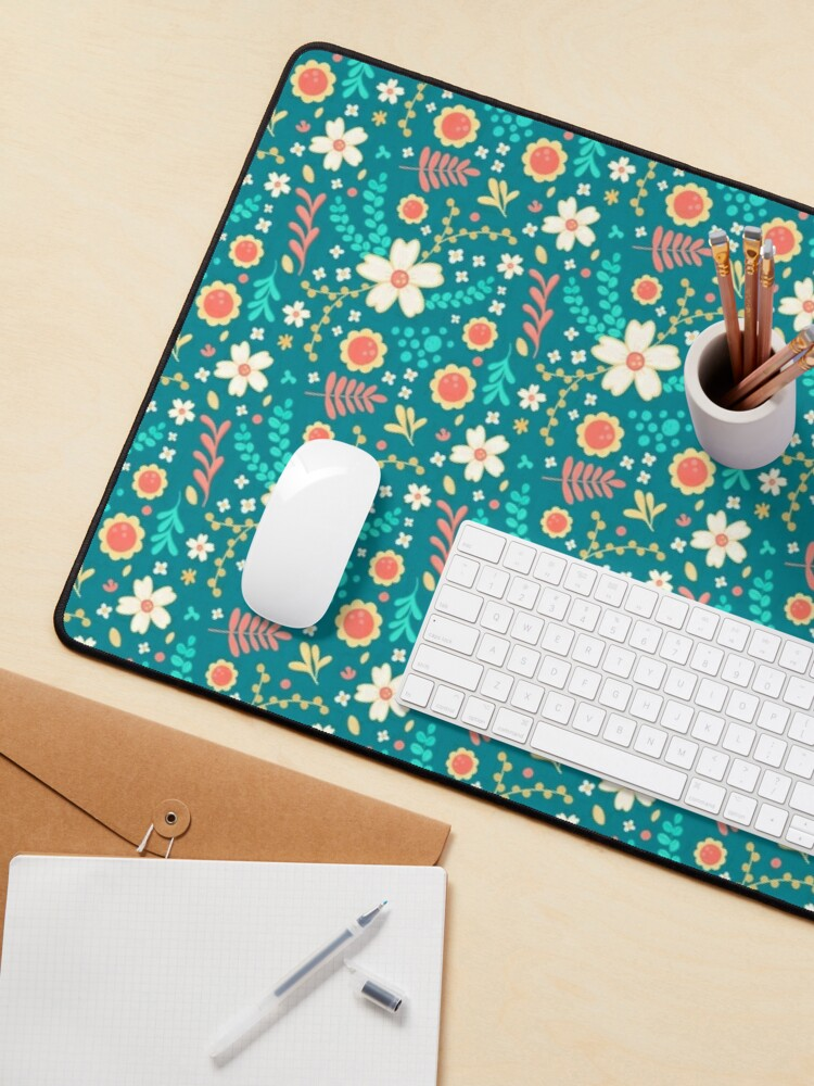 Alternate view of Sweet Floral Pattern Mouse Pad