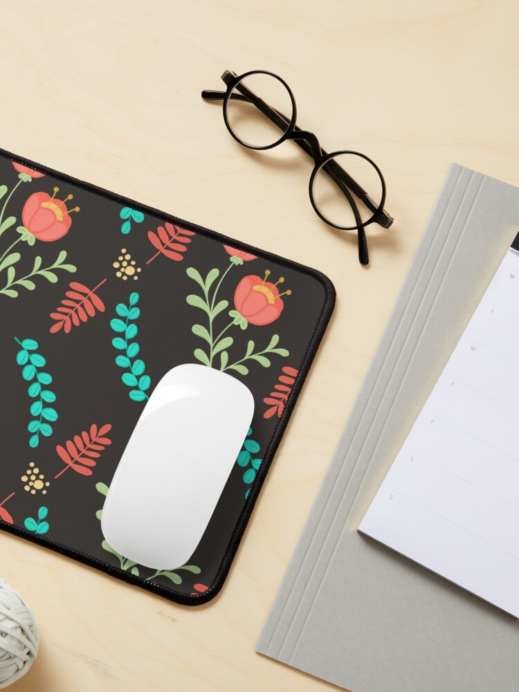 Alternate view of Cute Floral Pattern Mouse Pad