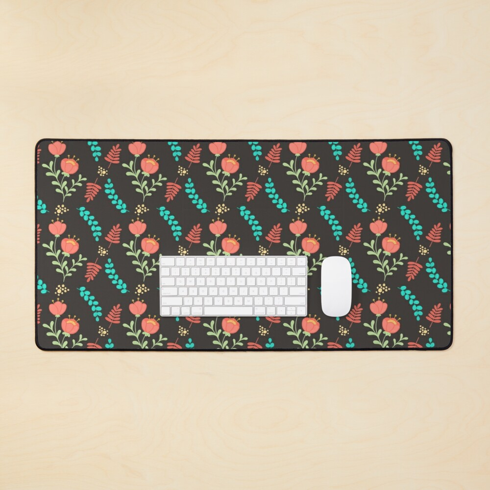 Cute Floral Pattern Mouse Pad