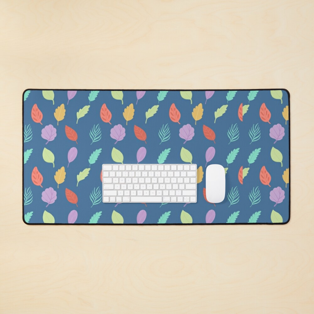 Colorful Leaves Pattern Mouse Pad