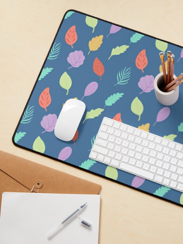 Alternate view of Colorful Leaves Pattern Mouse Pad
