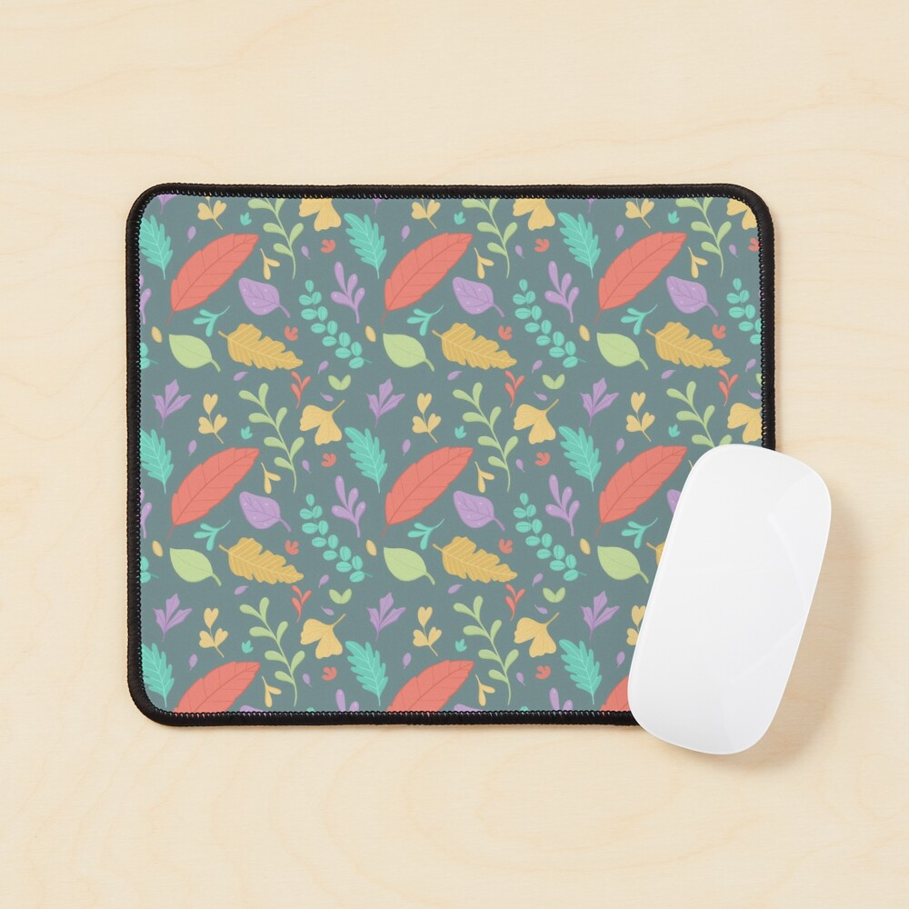 Nature Leaves Pattern Mouse Pad