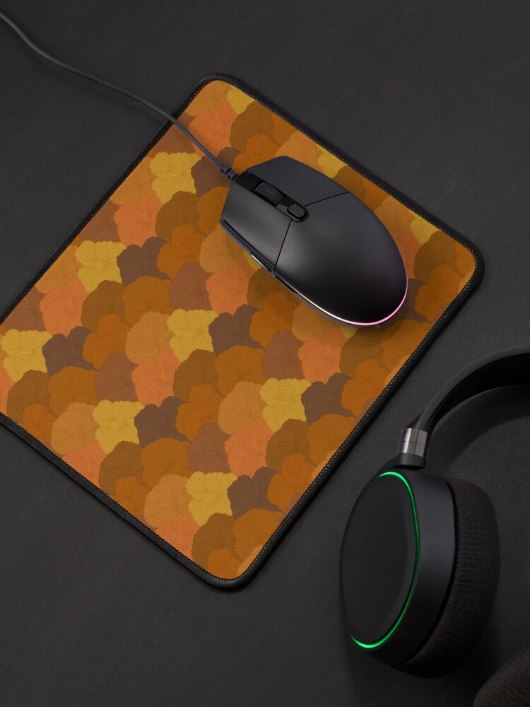 Alternate view of Autumn Colors Fungi Pattern Mouse Pad