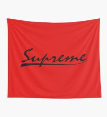 SUPREME, BLACK Wall Tapestry