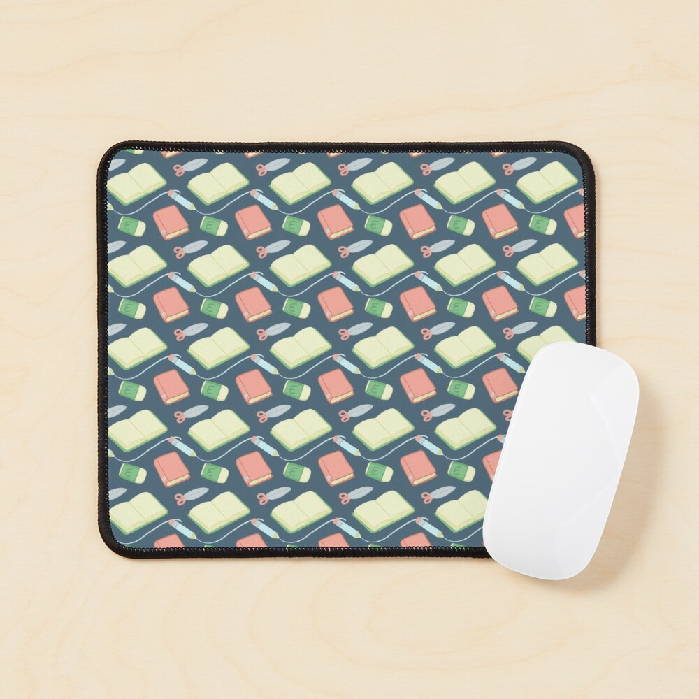 School Time Pattern Mouse Pad
