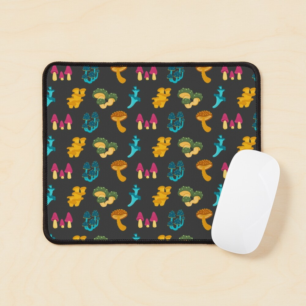 Colorful Mushrooms Pattern Mouse Pad
