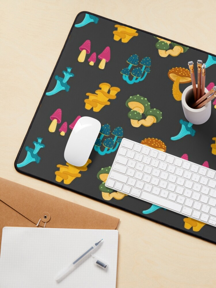 Alternate view of Colorful Mushrooms Pattern Mouse Pad