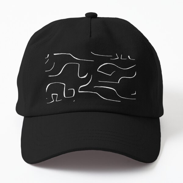 Abstract Cloud Lines Dad Hat