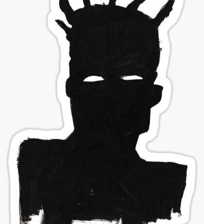 """Basquiat """"Self Portrait"""" Sticker"""