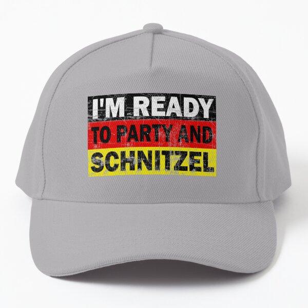 Funny Oktoberfest Party and Schnitzel Baseball Cap