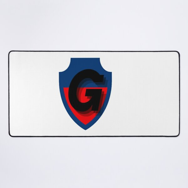 Blue and Red Football Desk Mat