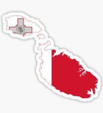 Malta Flag Map Sticker