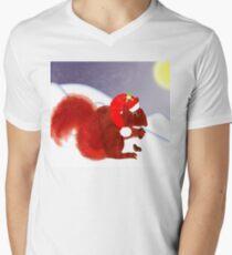 Cute Red Squirrel Snowy Christmas Scene T-Shirt