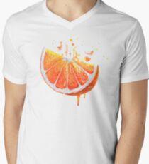 Juicy & Sunny Orange: charge of energy Men's V-Neck T-Shirt